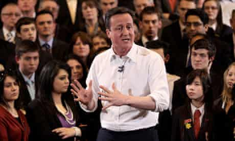 David Cameron Speaks At A Campaign Event In Bury