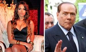 Karima el-Mahroug and Silvio Berlusconi