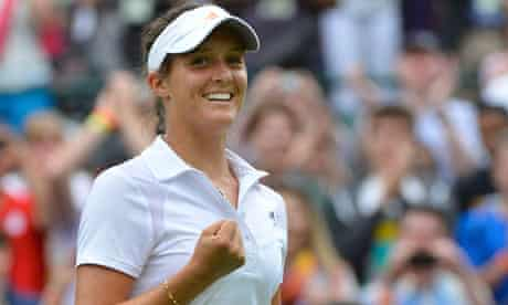 Laura Robson Wimbledon victory Maria Kirilenko