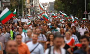 Protesters rally during a demonstration in central Sofia. Bulgaria's president said he would hold talks with all political parties on how to bring an end to protest rallies against graft and organised crime.