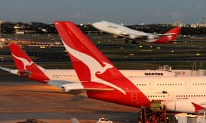 (FILES) A file photo taken on June 22, 2011 shows a Qantas Boeing 747 taking-off at Sydney Airport.  Sydney Airport released a draft master plan on June 5, 2013 to allow Australia's biggest airport to handle more than 74 million passengers a year by 2033 without the need for new runways or the lifting of a night curfew.  AFP PHOTO / FILES / Torsten BLACKWOODTORSTEN BLACKWOOD/AFP/Getty Images