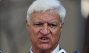 The member for Kennedy Bob Katter at a press conference this morning. The Global Mail.