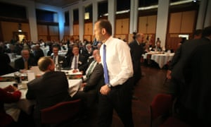 The Leader of the Opposition Tony Abbott at the Minerals Week 2013 luncheon in the Great Hall of Parliament House. The Global Mail.