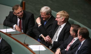Kevin Rudd and friends. The Global Mail.