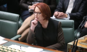 The Prime Minister Julia Gillard, during Question Time. The Global Mail.