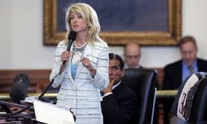 Wendy Davis during her Texas Senate filibuster