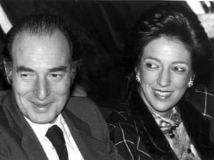 Marc Rich and his wife at that time Denise Rich, on a 1986 file photo.
