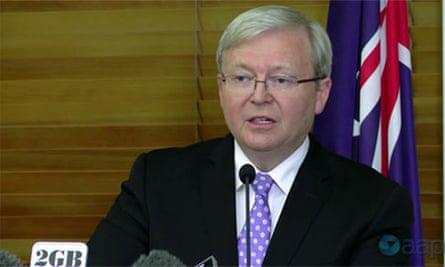 Kevin Rudd announces leadership challenge