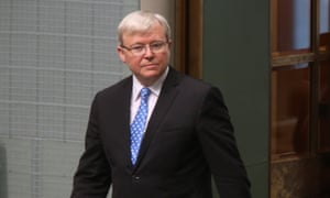 Kevin Rudd arrives in parliament this morning