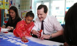 George Osborne during a visit to a primary school on 25 June 2013.
