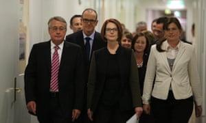 Team Gillard. The Global Mail.