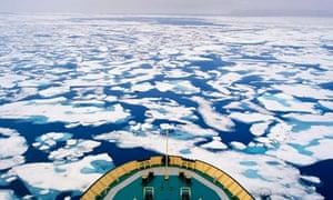 Ice near Baffin Island, Canada