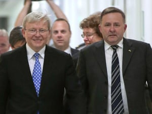 Labor Returns To Kevin Rudd In Bid To Avoid Election Wipeout World News The Guardian