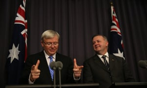 Prime Minister Kevin Rudd and Deputy Anthony Albanese. The Global Mail.