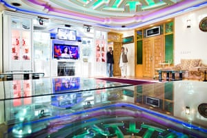 Kabul's new rich: The living room of the top floor apartment