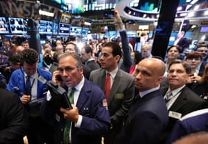 Traders wait for the IPO of  Luxoft Holdings Inc. on the floor at the New York Stock Exchange, June 26, 2013.