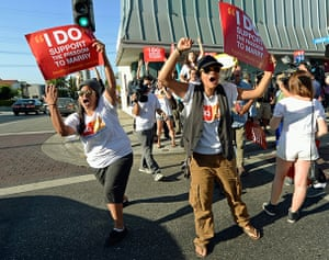 Gay marriage : Californians React To Supreme Court Rulings On Prop 8 And DOMA
