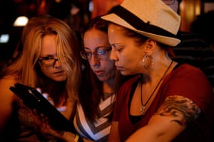 Gay marriage : Patrons of the Stonewall Inn gather to hear the Supreme Court rulings in Ne