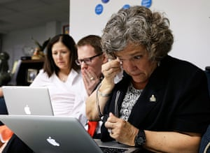 Gay marriage : One Iowa Executive Director Donna Red Wing, right, reacts in Des Moines