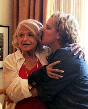 Gay rights: Edith Windsor at the apartment of Roberta Kaplan, the lawyer who argued Edi