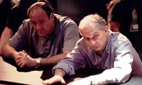 James Gandolfini and David Chase