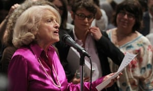 Defense of Marriage Actplaintiff Edith Windsor speaks to supporters in Manhattan following the US supreme court ruling on Doma.