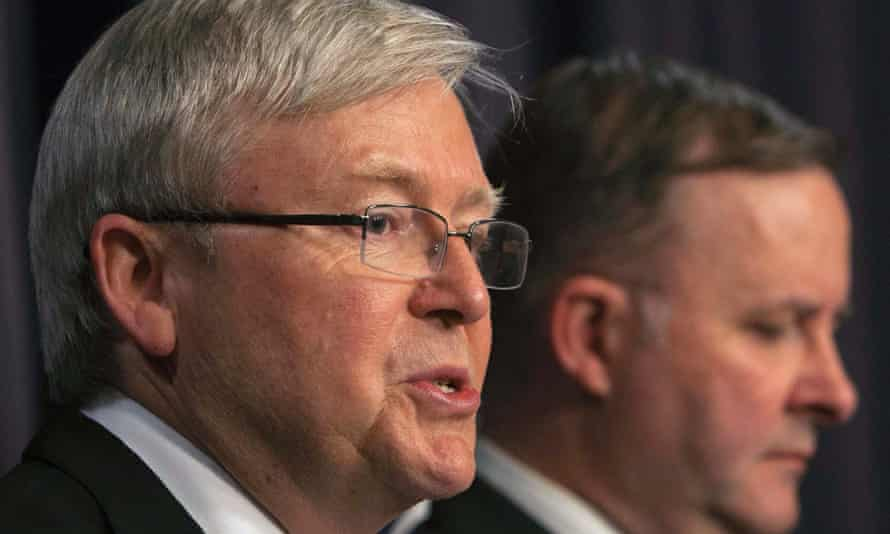 Kevin Rudd (left) with his deputy Anthony Albanese.