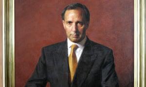 Paul Keating's offical portrait.
