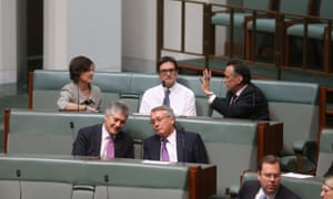 Former Ministers Combet, Emerson, Smith and Swan on the back bench during a division in the House of Representatives. The Global Mail.
