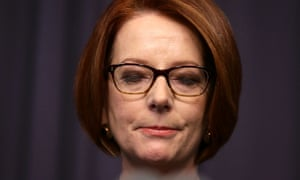 Julia Gillard delivers her post ballot press conference at Parliament House on June 26, 2013 in Canberra, Australia.