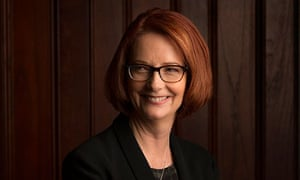Julia Gillard photographed for Guardian Australia at Kirribilli House