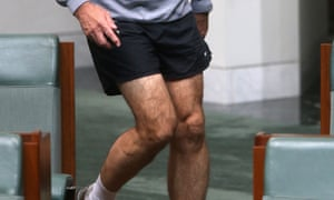 The legs have it. Craig Emerson arrives to listen to The Member for Kingsford-Smith Peter Garrett deliver his valedictory speech. The Global Mail.