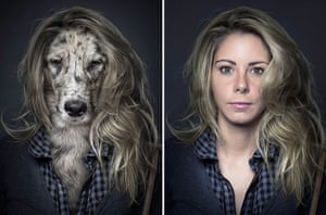 Dogs Dressed As Owners: Long hair