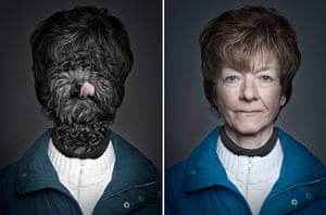 Dogs Dressed As Owners: Blue coat
