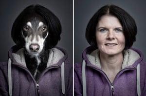 Dogs Dressed As Owners: Dark hair