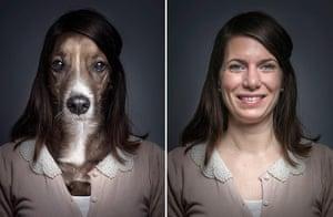Dogs Dressed As Owners: Long dak hair