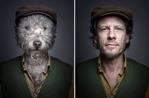 Dogs Dressed As Owners: cloth cap