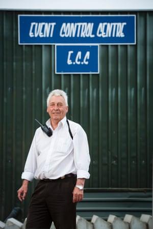A Glastonbury VIP: festival infrastructure manager Phil Miller.