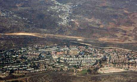 Aerial view of Ariel, West Bank