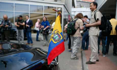 Ecuadorian ambassador's car in Moscow