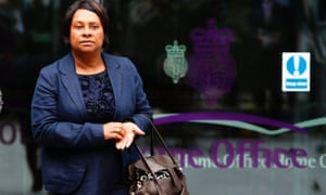 Doreen Lawrence, mother of Stephen Lawrence, leaves the Home Office in London following a meeting with the Home Secretary, Theresa May.