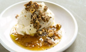 Yotam Ottolenghi's set cheesecake with greengage compote