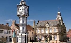 The clocktower in Downham Market in Norfolk