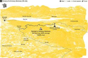 Tour de France climbs Annecy
