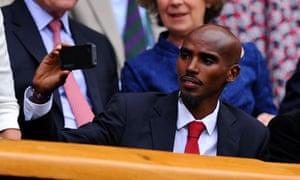 Mo Farah at Wimbledon
