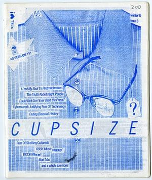 RiotGrrl posters: Cupsize RiotGrrl poster
