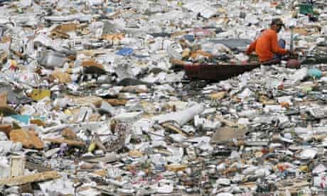 River full of waste