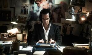 Nick Cave writing lyrics.