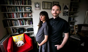 Trenton Oldfield and his wife Deepa Naik at home in east London