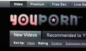 Screenshot of free internet porn website youporn